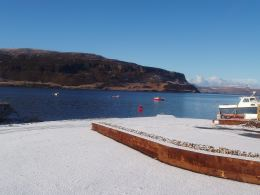 Loch Bay in the snow - New Year's Day